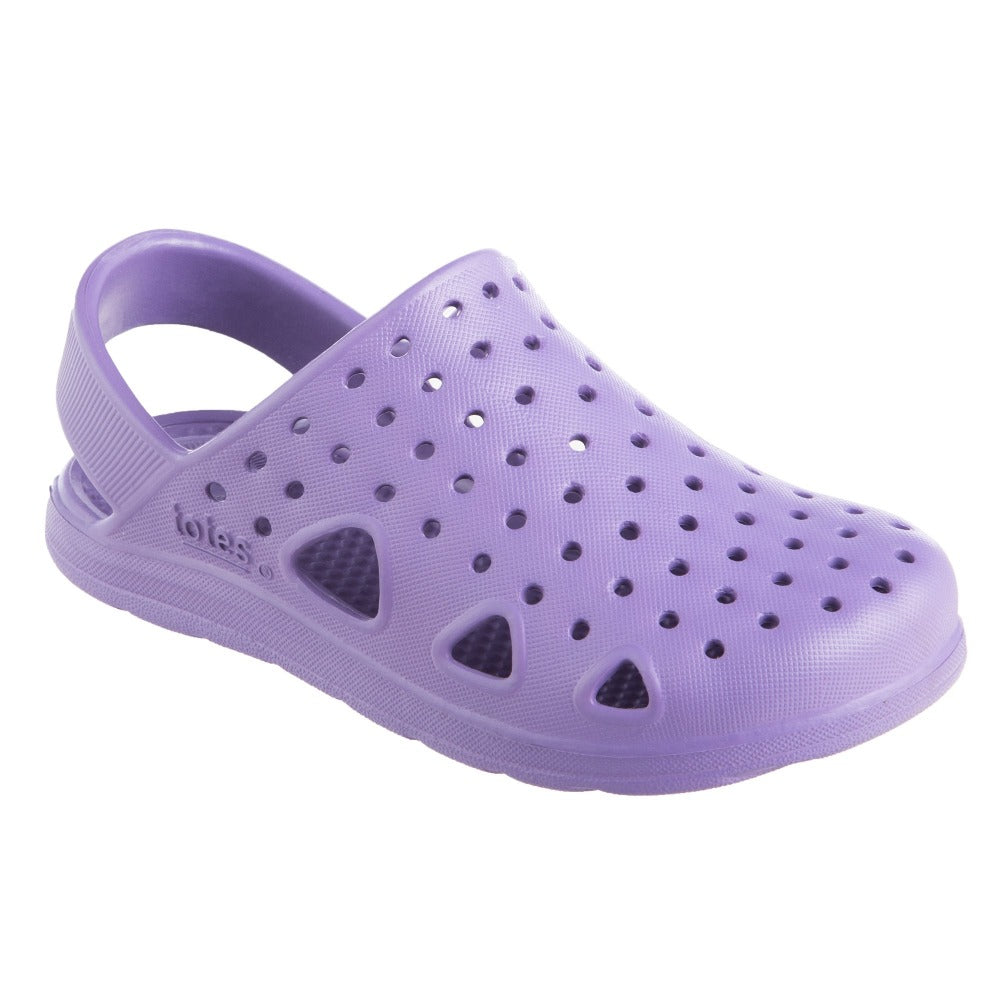Kid's Sol Bounce Splash & Play Clog in Paisley Purple Right Angled View