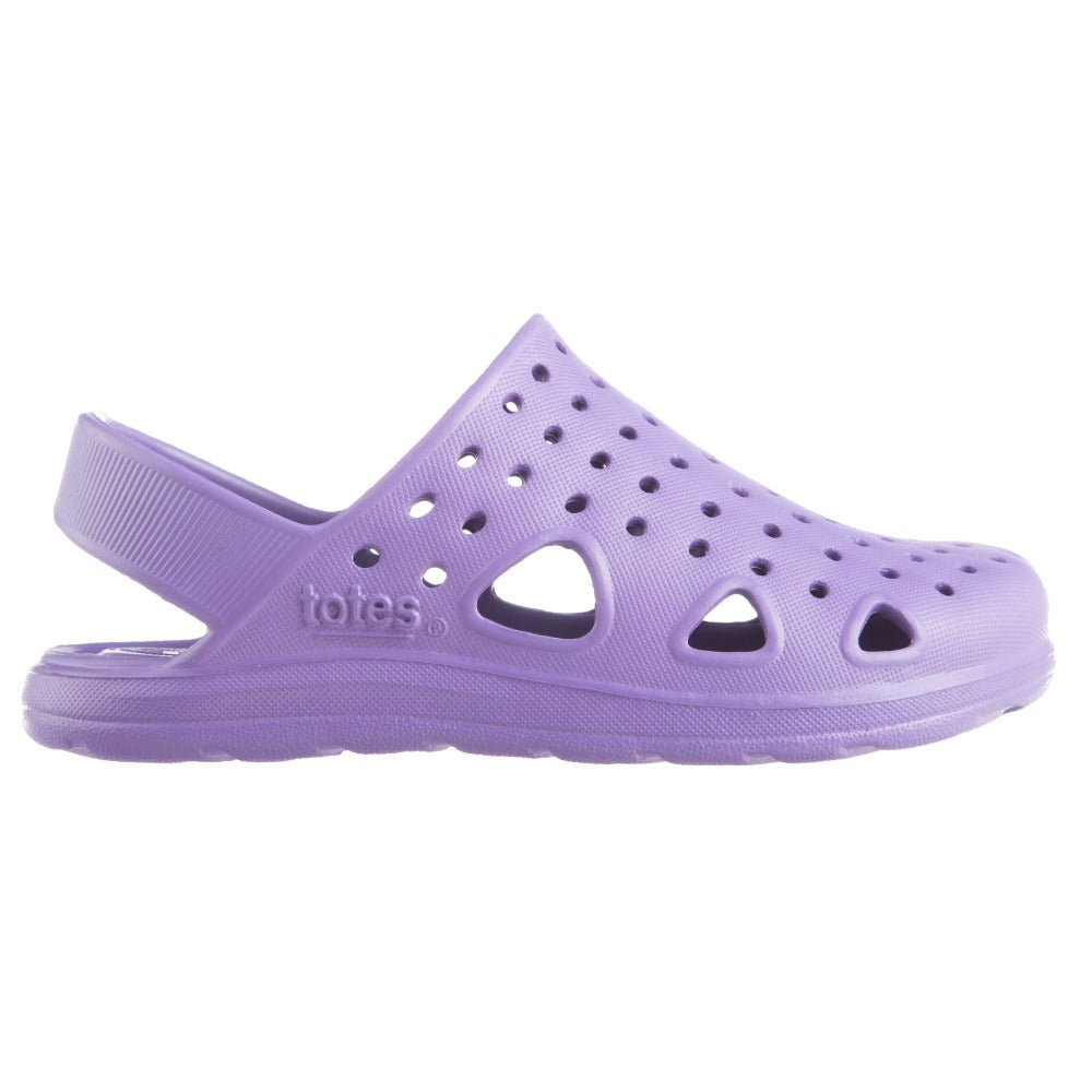 Kid's Sol Bounce Splash & Play Clog in Paisley Purple Profile