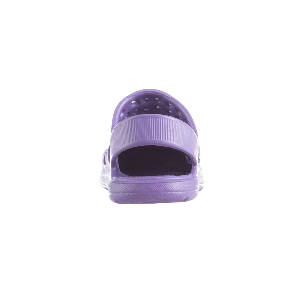 Kid's Sol Bounce Splash & Play Clog in Paisley Purple Back