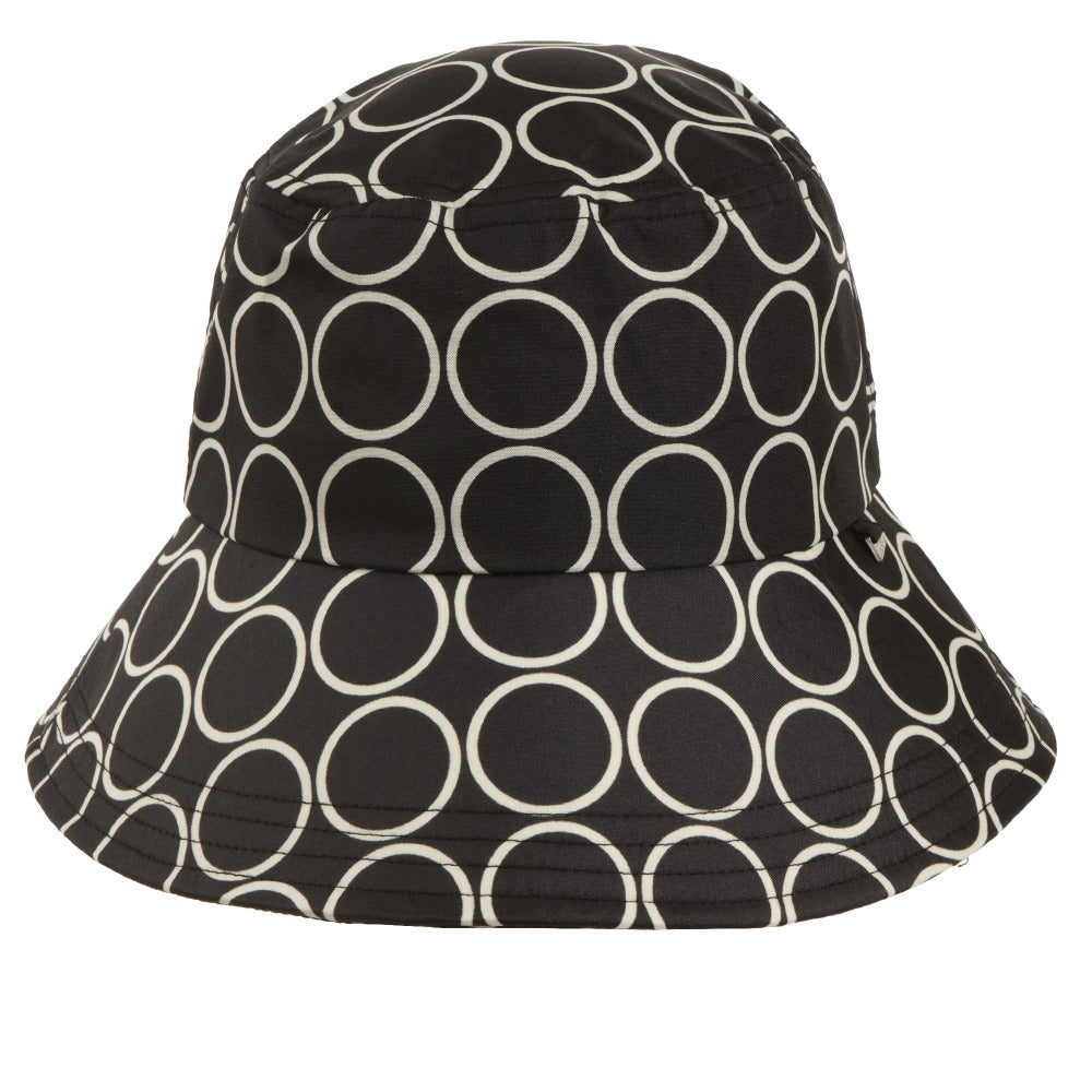 Women's Bow Rain Hat in Metro Dot Front