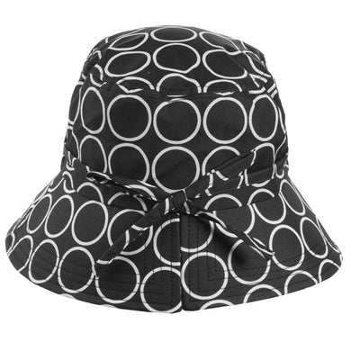 Women's Bow Rain Hat in Metro Dot Back