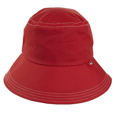 Women's Bow Rain Hat in Red Front