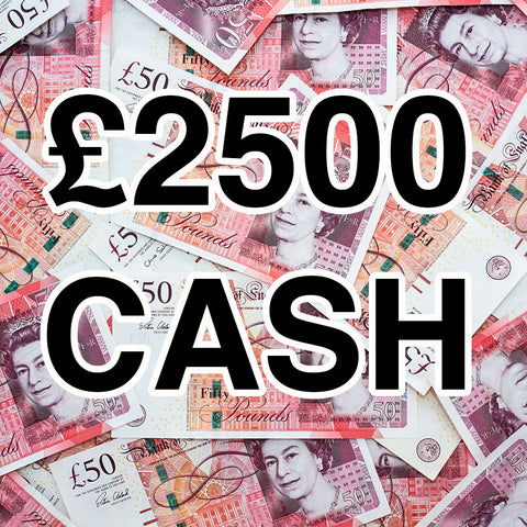 WIN £2500 TAX FREE CASH!