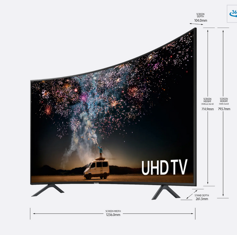 "Samsung 55"" Curved Smart 4K Ultra HD TV"