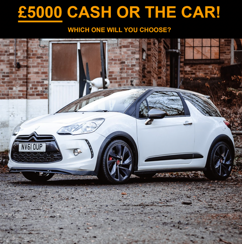 Citroen DS3-R OR TAKE £5000 CASH! YOU CHOOSE!