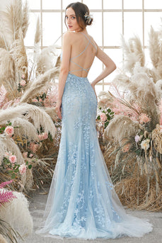Spaghetti Straps Mermaid Prom Dress