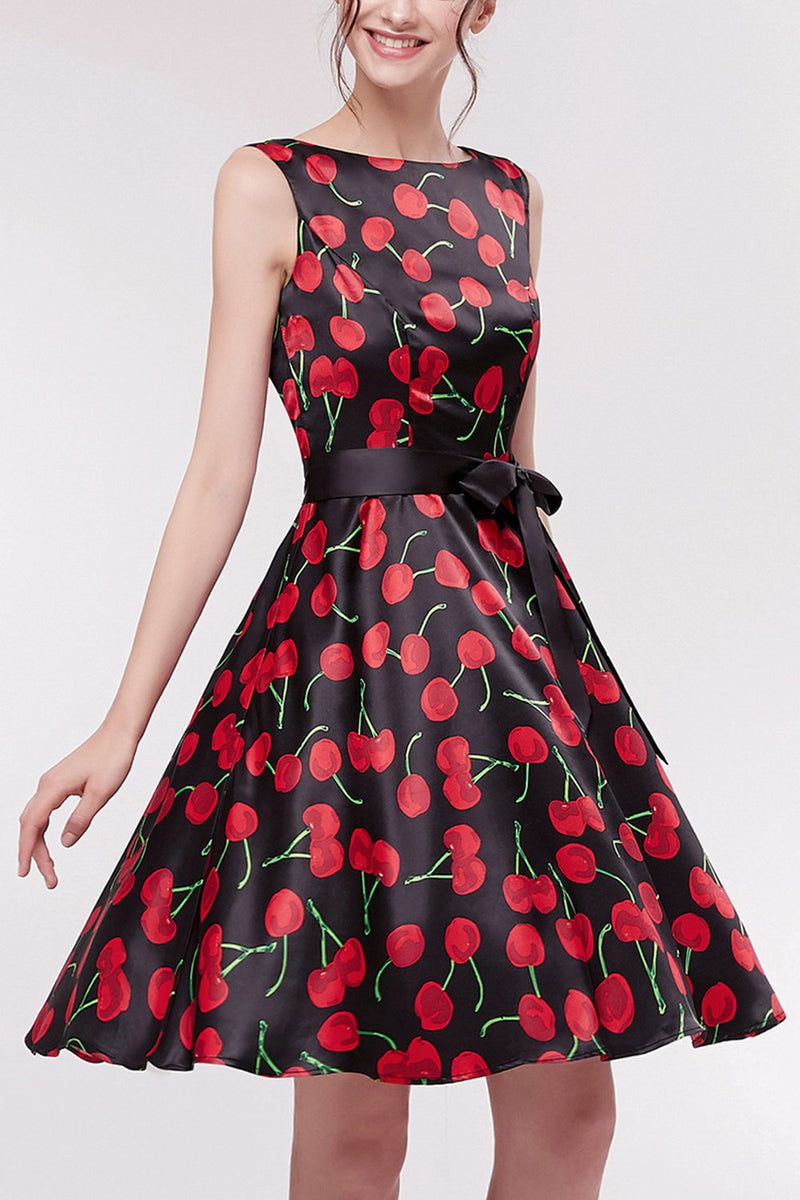 Load image into Gallery viewer, Printed Cherry Short Dress