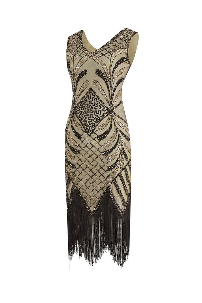 Load image into Gallery viewer, Women 1920s Fringe Sequin Dress