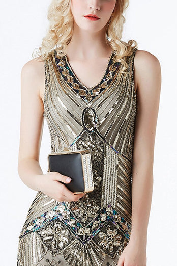 Glitter Fringe 1920s Flapper Dress