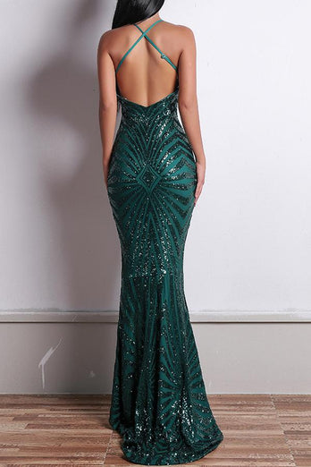 Green Mermaid Evening Dress