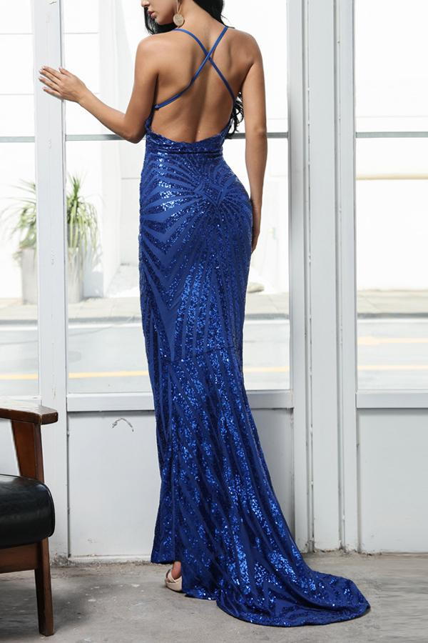 Load image into Gallery viewer, Royal Blue Mermaid Evening Dress