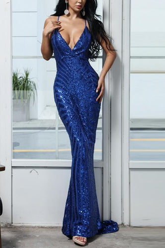 Royal Blue Mermaid Evening Dress