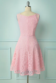 Pink Lace Bridesmaid - ZAPAKA