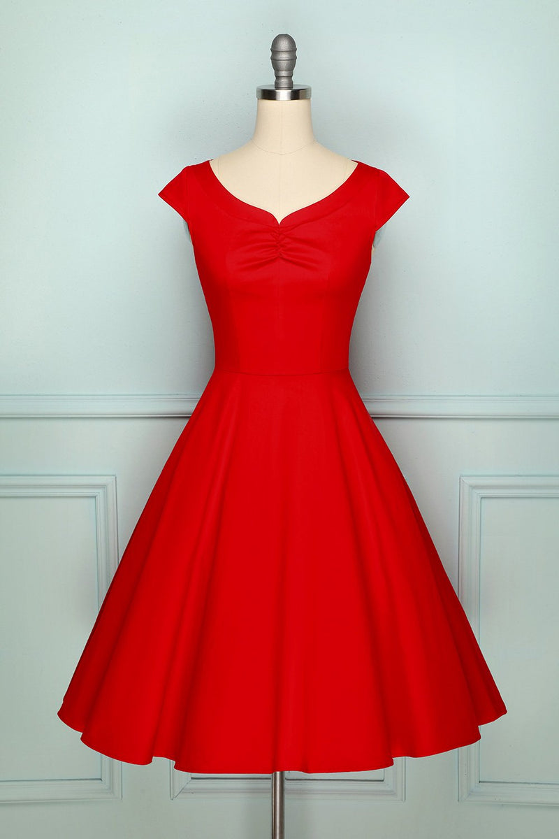 Load image into Gallery viewer, 1950s Red Dress