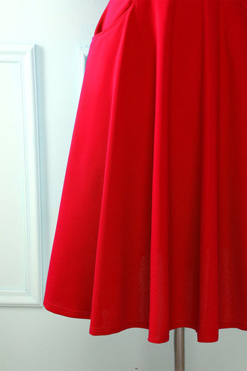 Red Dress with Pockets