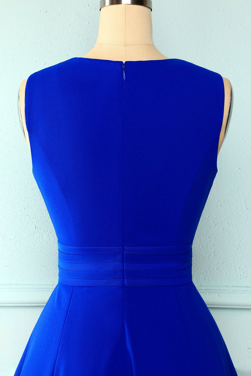 Load image into Gallery viewer, Solid Royal Blue Dress