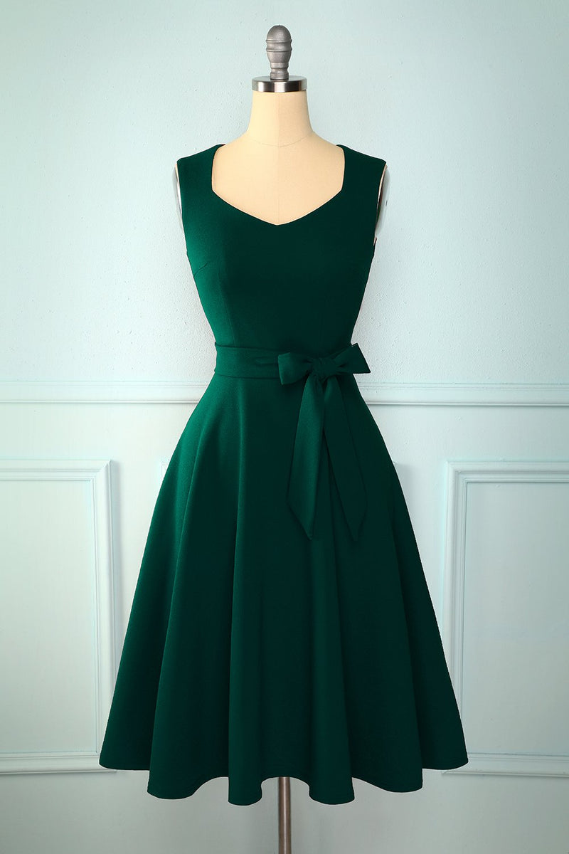 Load image into Gallery viewer, Soft Dark Green Dress