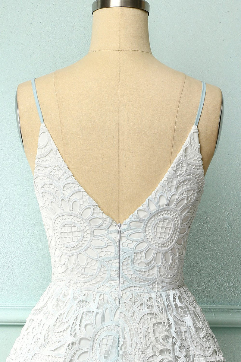 Load image into Gallery viewer, White Spaghetti Straps Homecoming Dress