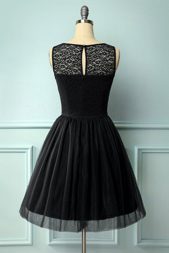 Black Lace Homecoming Dress