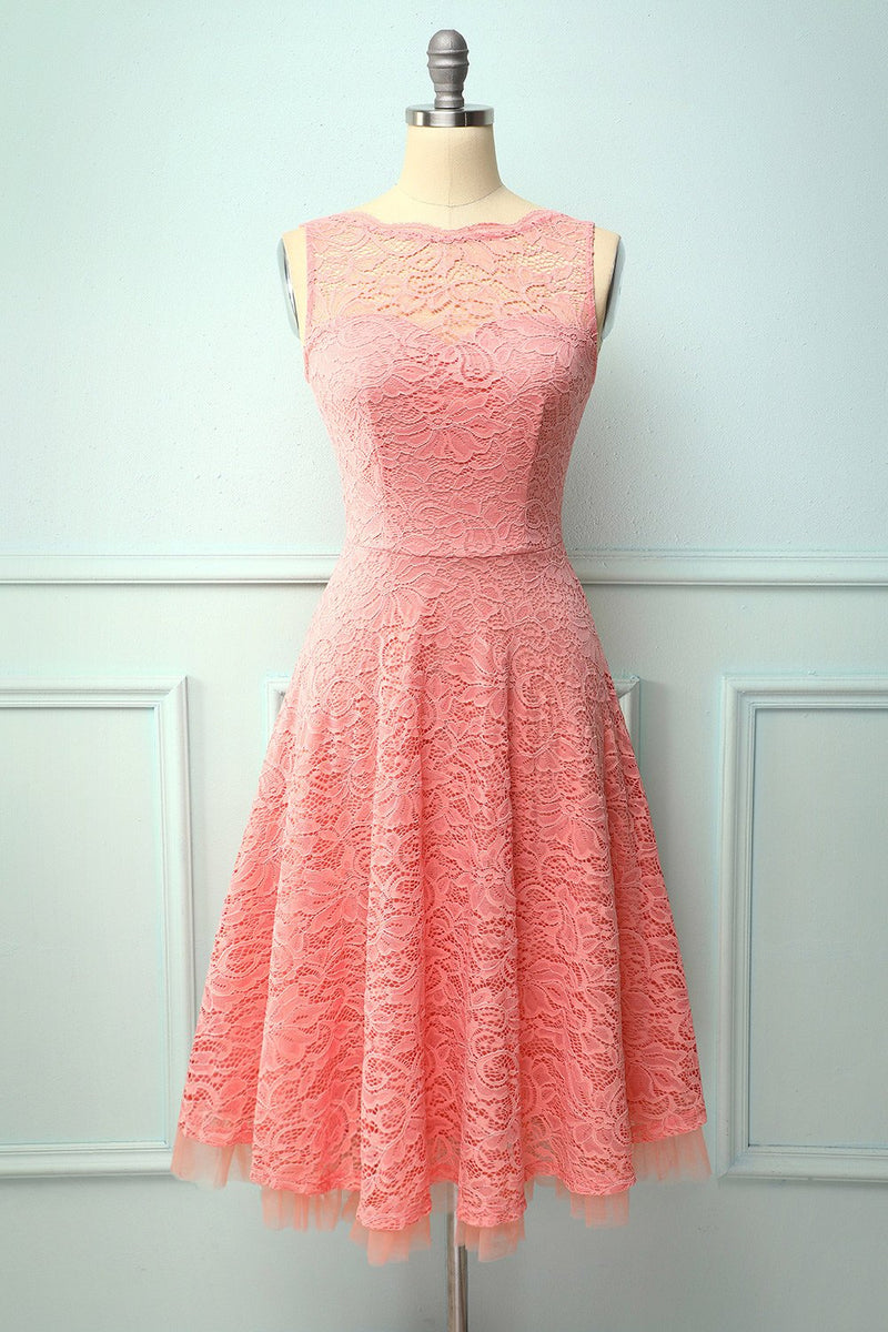 Load image into Gallery viewer, Lace Blush Formal Dress