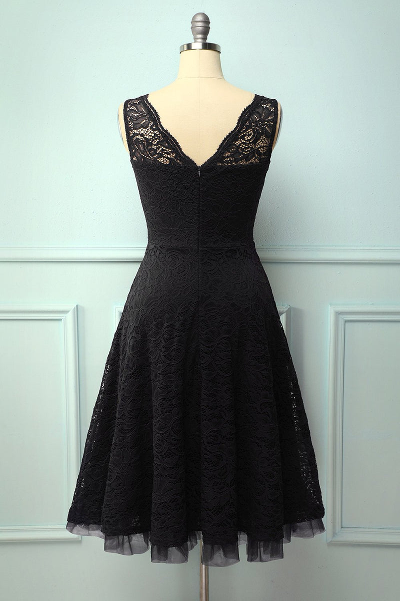 Load image into Gallery viewer, Lace Black Formal Dress