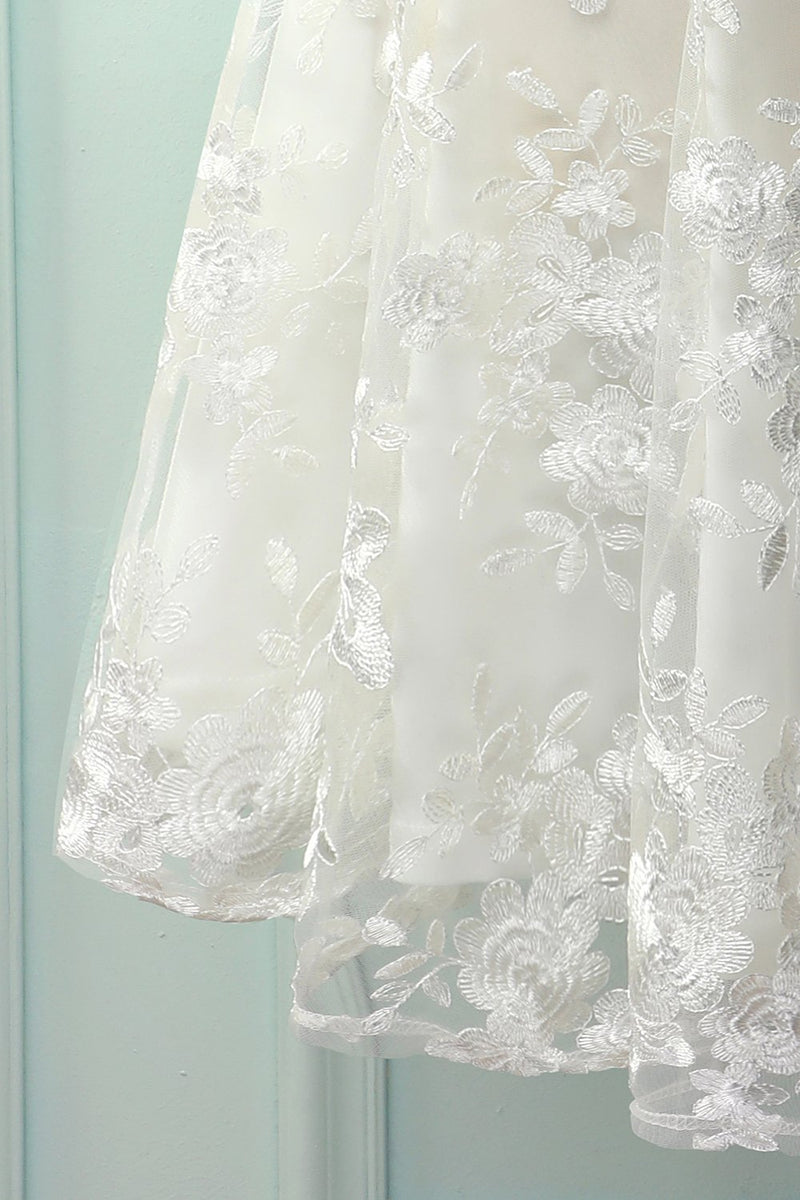 Load image into Gallery viewer, White Lace Dress with Bow