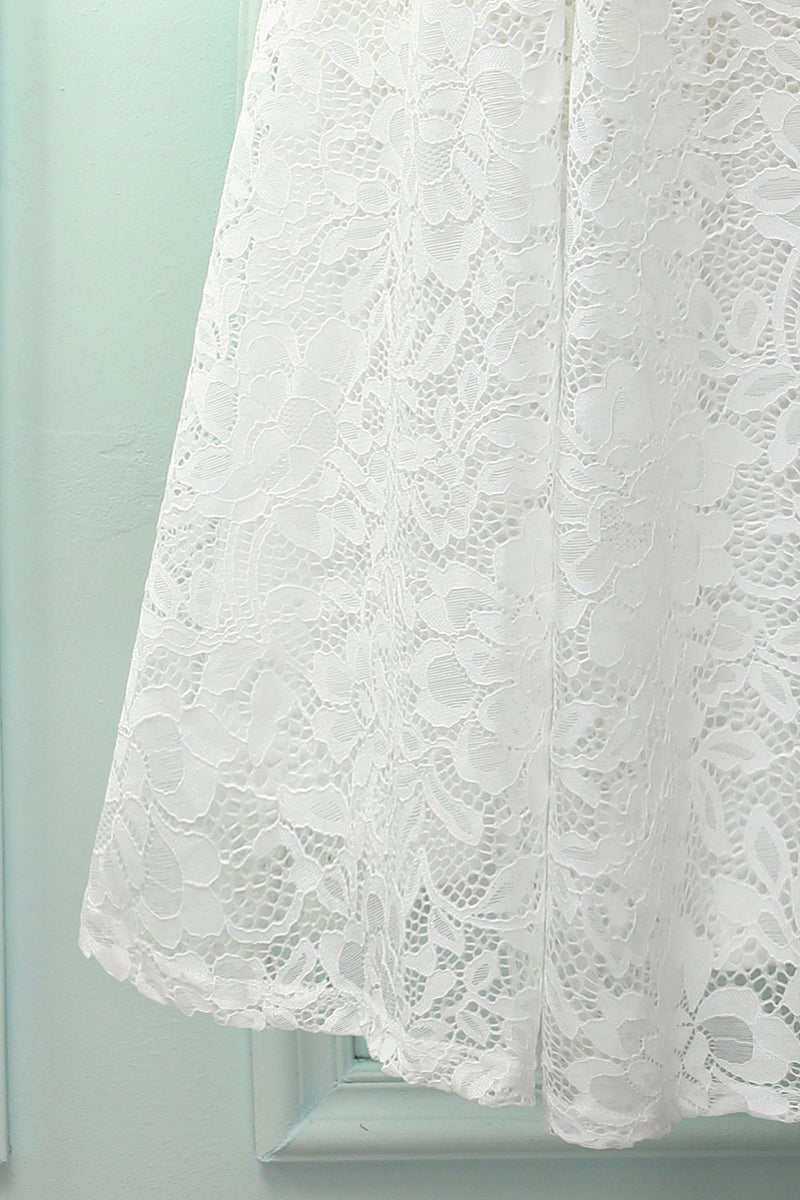 Load image into Gallery viewer, White Halter Lace Midi Dress