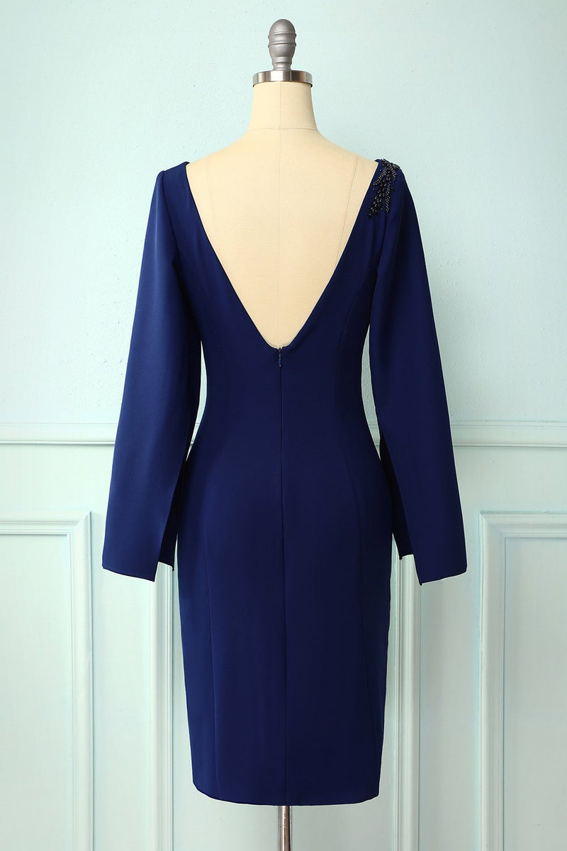 Load image into Gallery viewer, Dark Blue Mother Of The Bride Dress