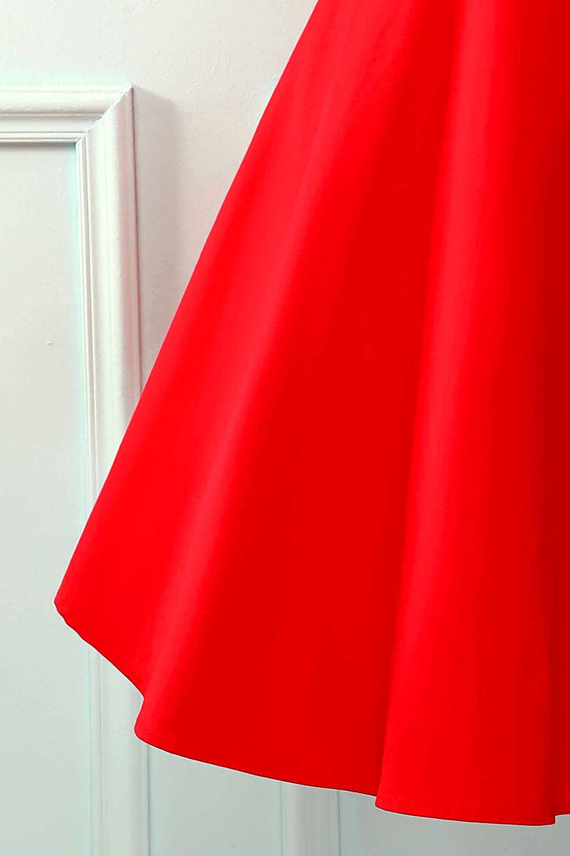 Load image into Gallery viewer, Halter Red Sleeveless Dress