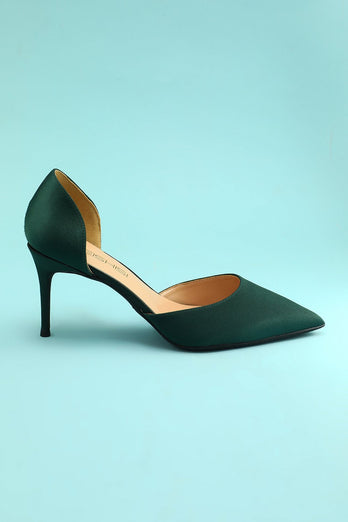 Dark Green Stiletto Heels