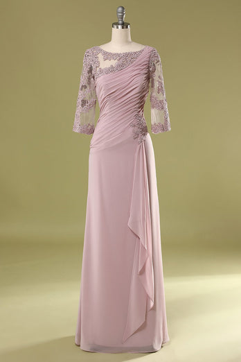 Chiffon Mother Dress with Beading Ruffle
