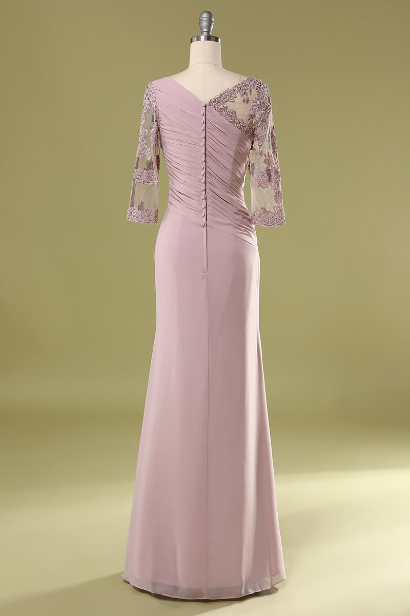 Load image into Gallery viewer, Chiffon Mother Dress with Beading Ruffle