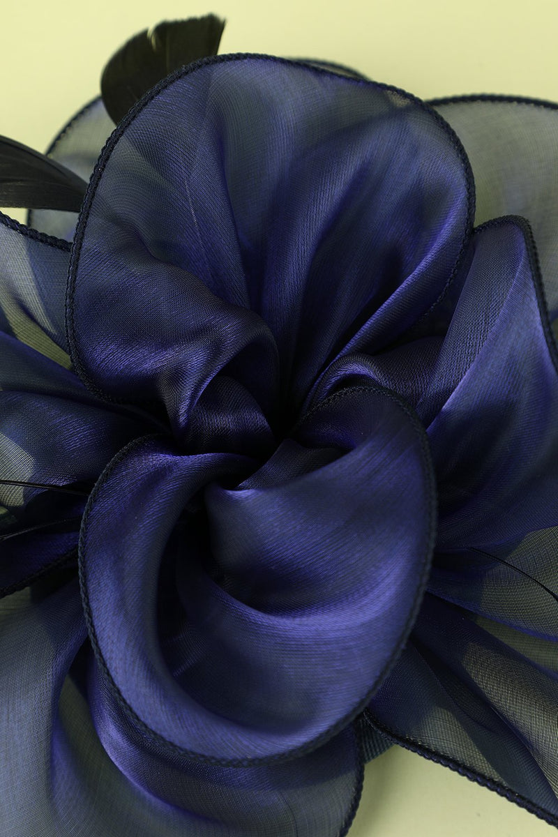 Load image into Gallery viewer, 1920s Blue Organza Beaded Headband