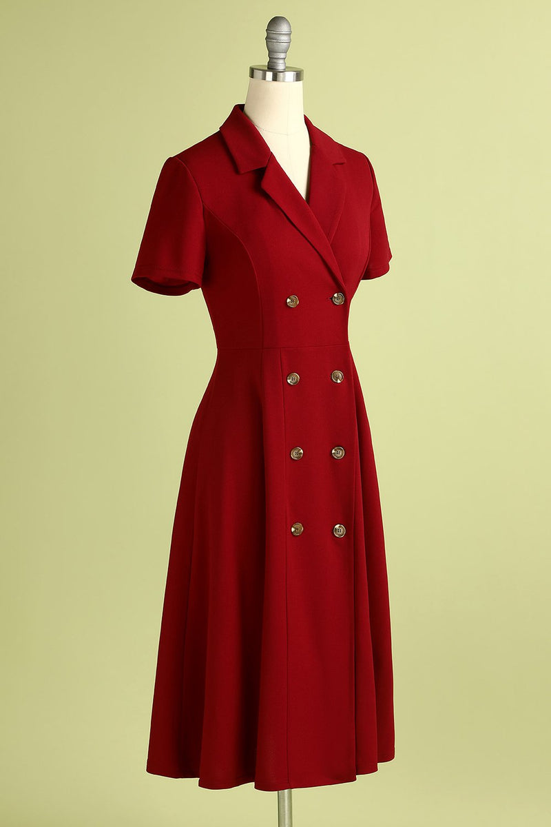 Load image into Gallery viewer, Burgundy Vintage Dress