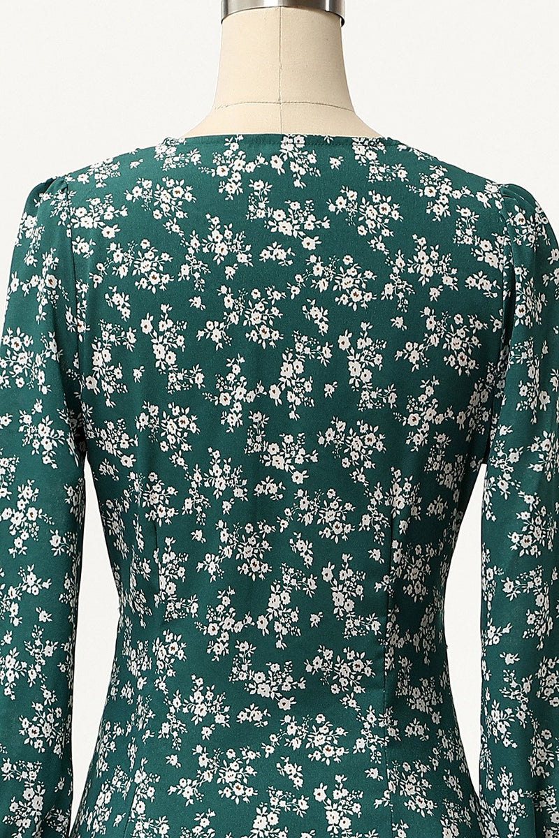Load image into Gallery viewer, Summer Small Floral Print Casual Dress