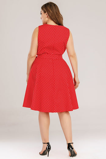 Plus Size Red Swing Dress