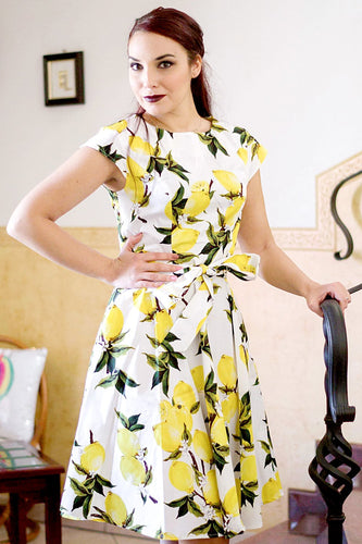 Yellow Lemon Print Dress