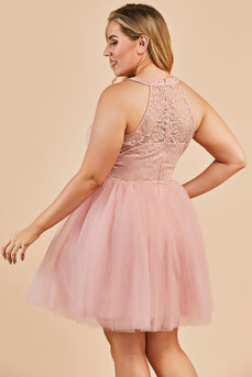 Blush Plus Size Party Dress