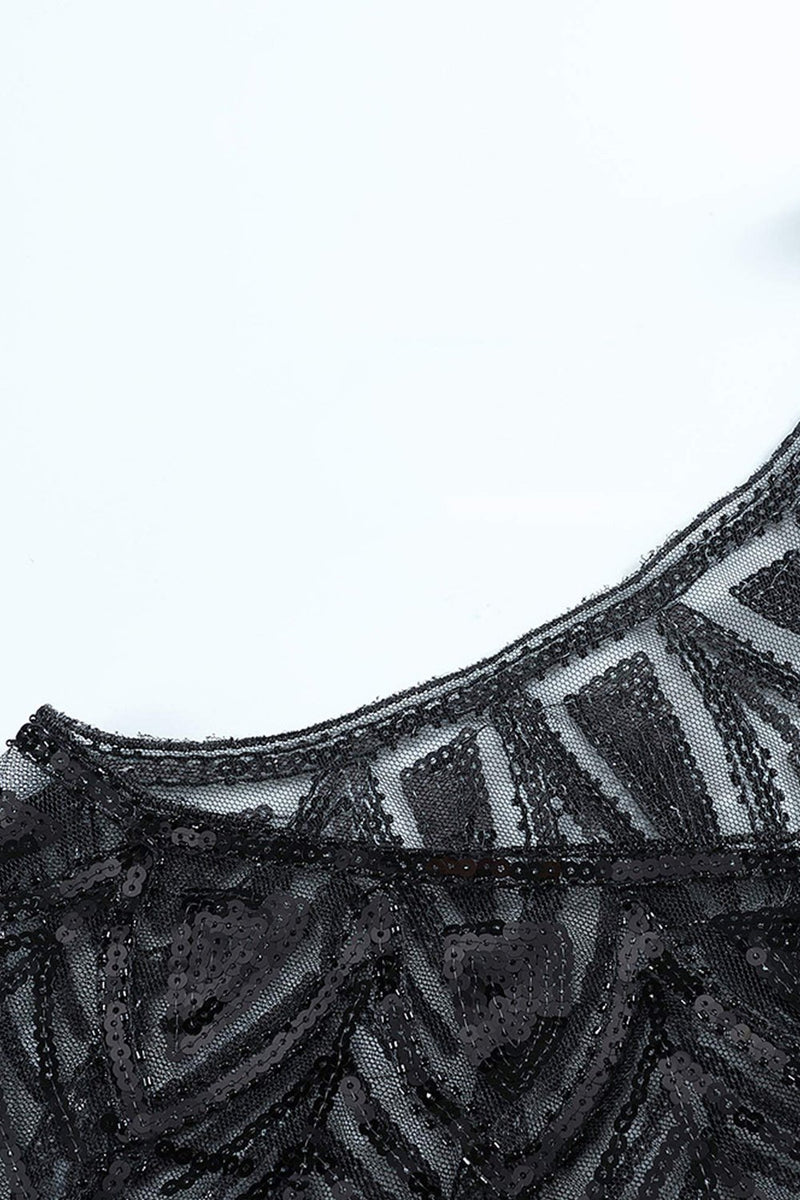 Load image into Gallery viewer, 1920s Sequin Black Women Cape