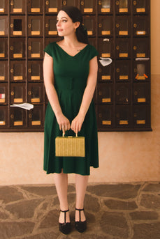 Green Solid Dress