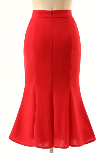 Red Mermaid Skirt
