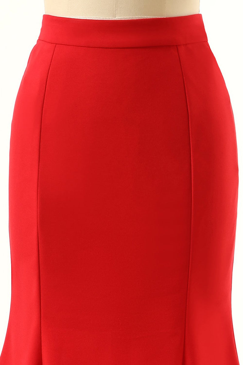 Load image into Gallery viewer, Red Mermaid Skirt