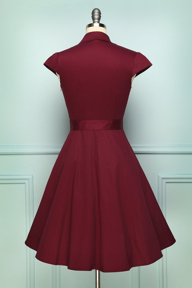 Load image into Gallery viewer, 50s Burgundy Swing