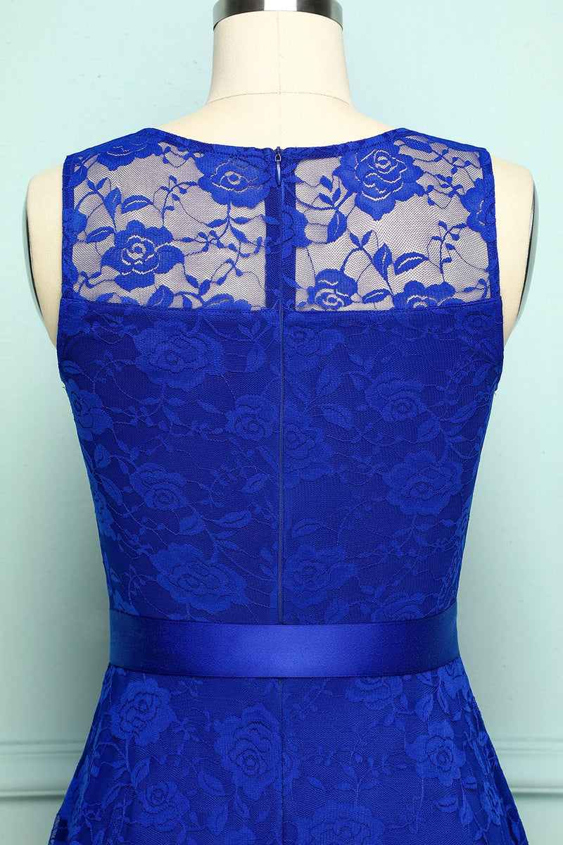 Load image into Gallery viewer, Lace Royal Blue Dress