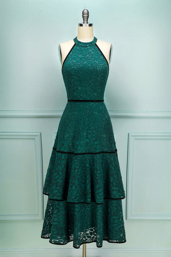 Lace Green Dress