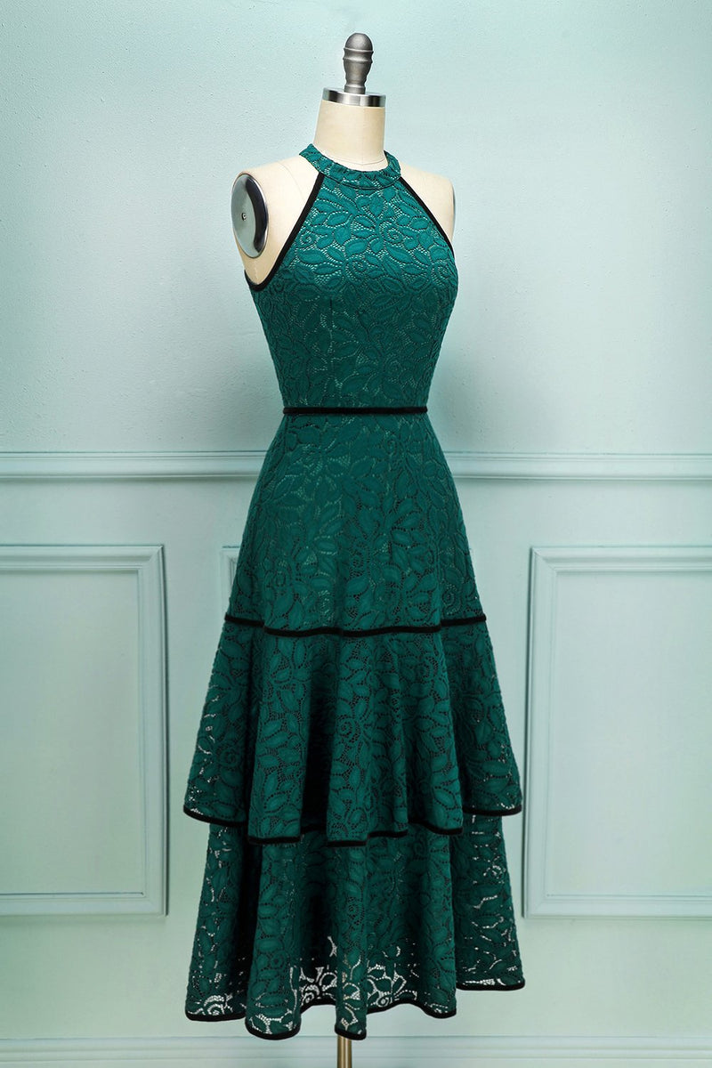 Load image into Gallery viewer, Lace Green Dress