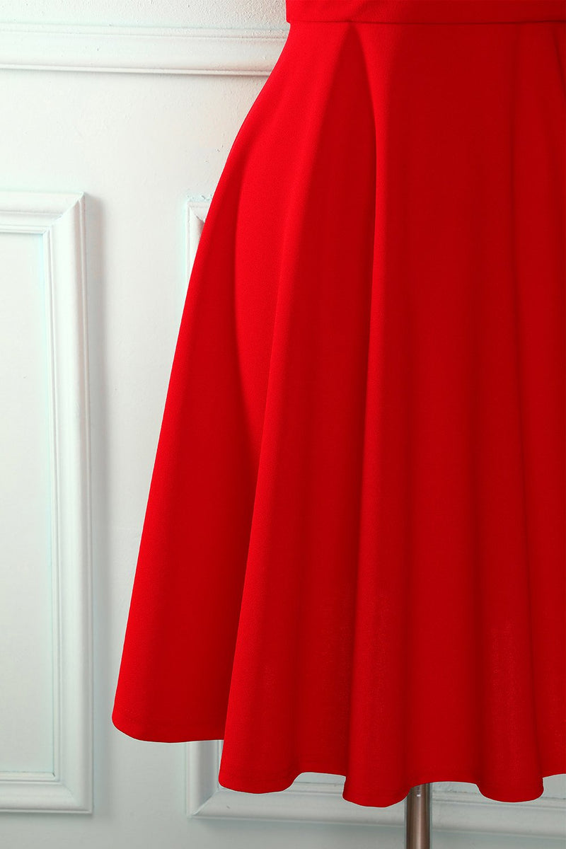 Load image into Gallery viewer, Red Solid Homecoming Dress