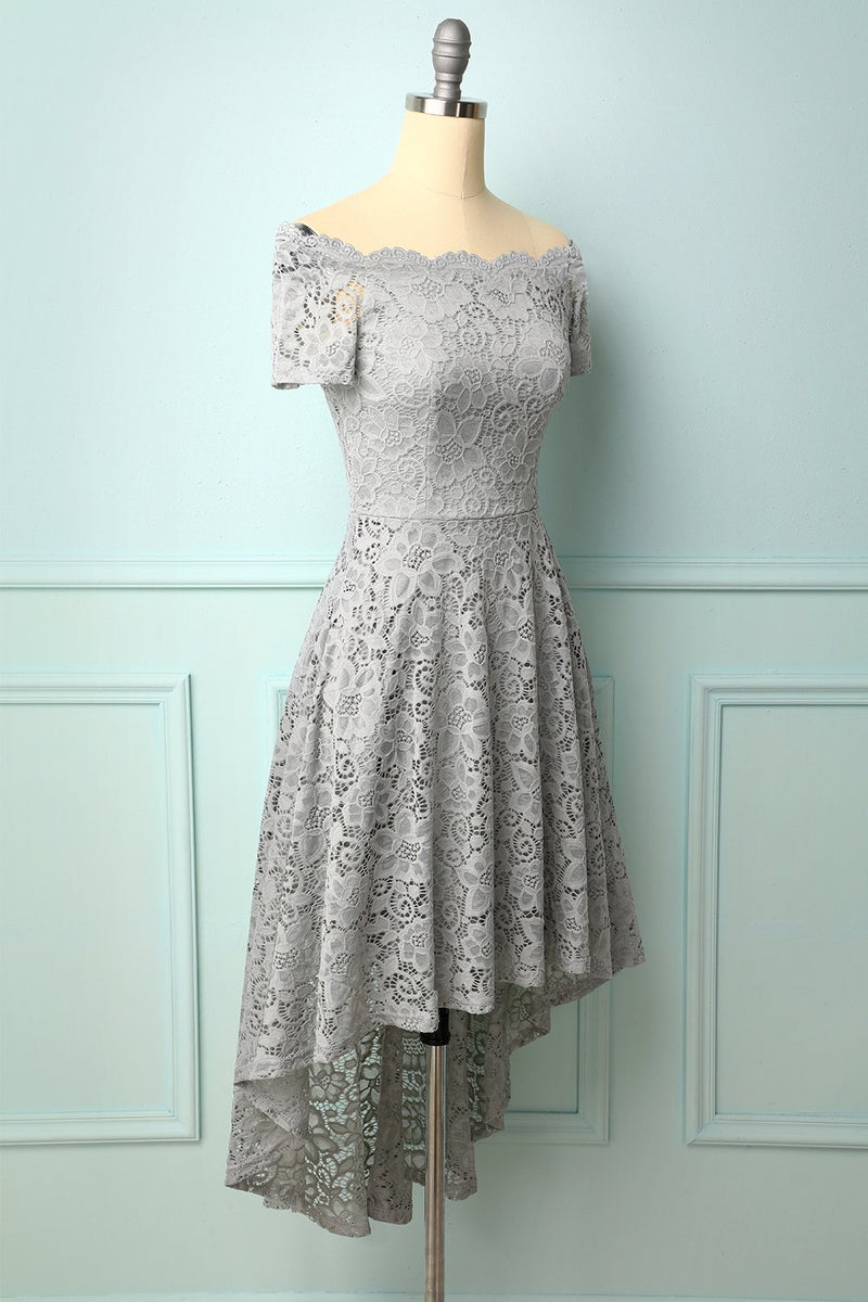 Load image into Gallery viewer, Grey Off the Shoulder Dress