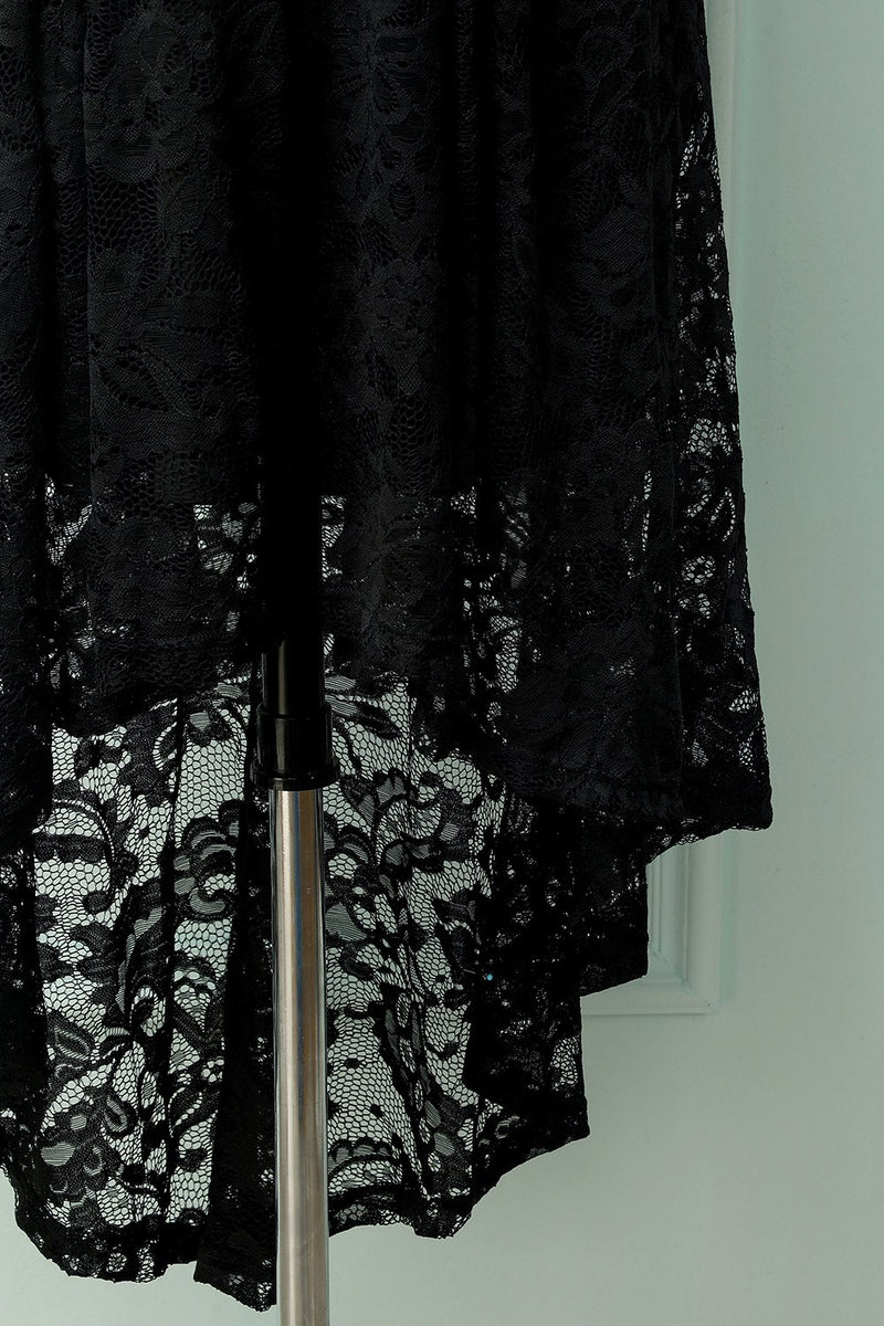 Load image into Gallery viewer, Asymmetrical Black Lace