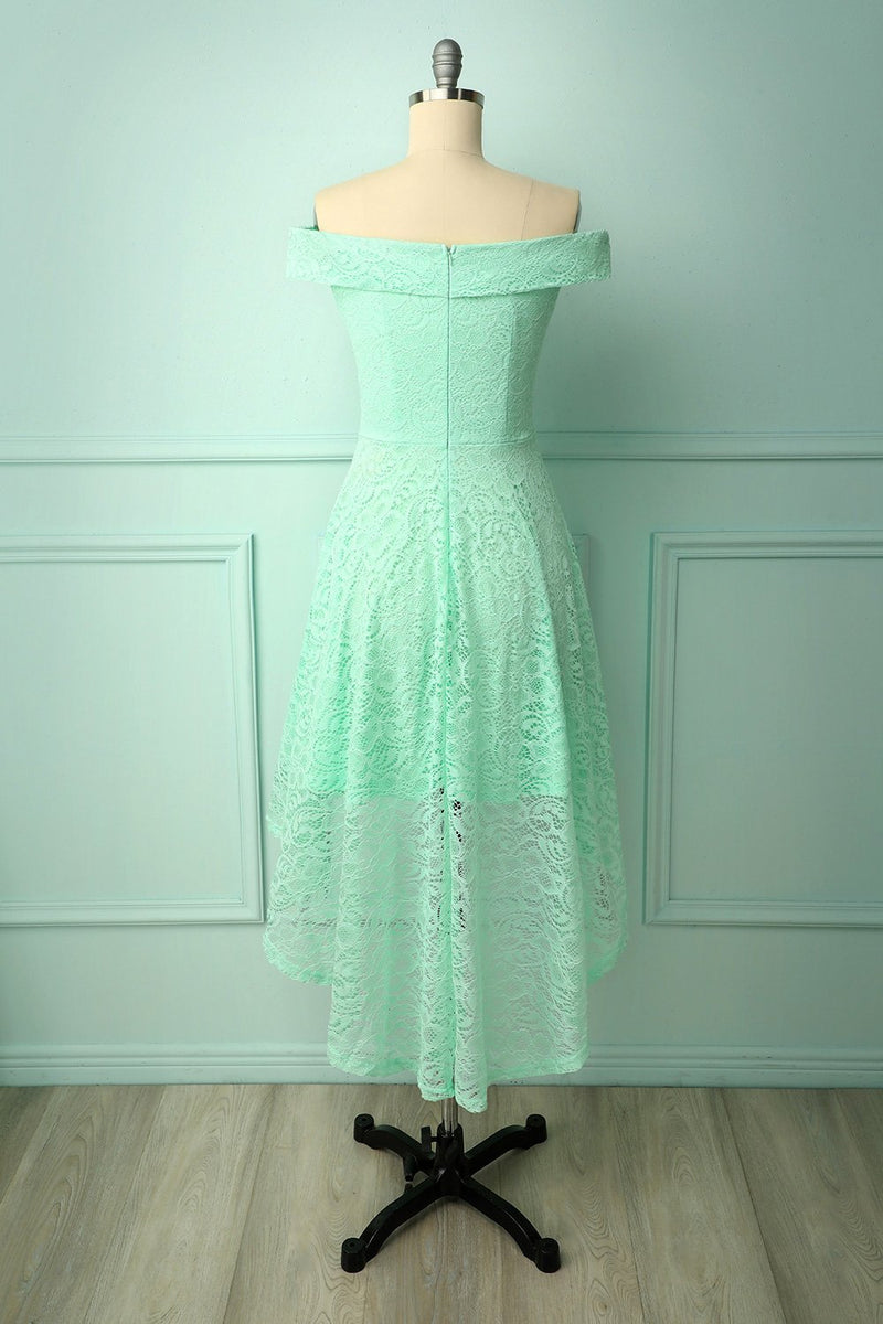 Load image into Gallery viewer, Off-shoulder Mint Dress
